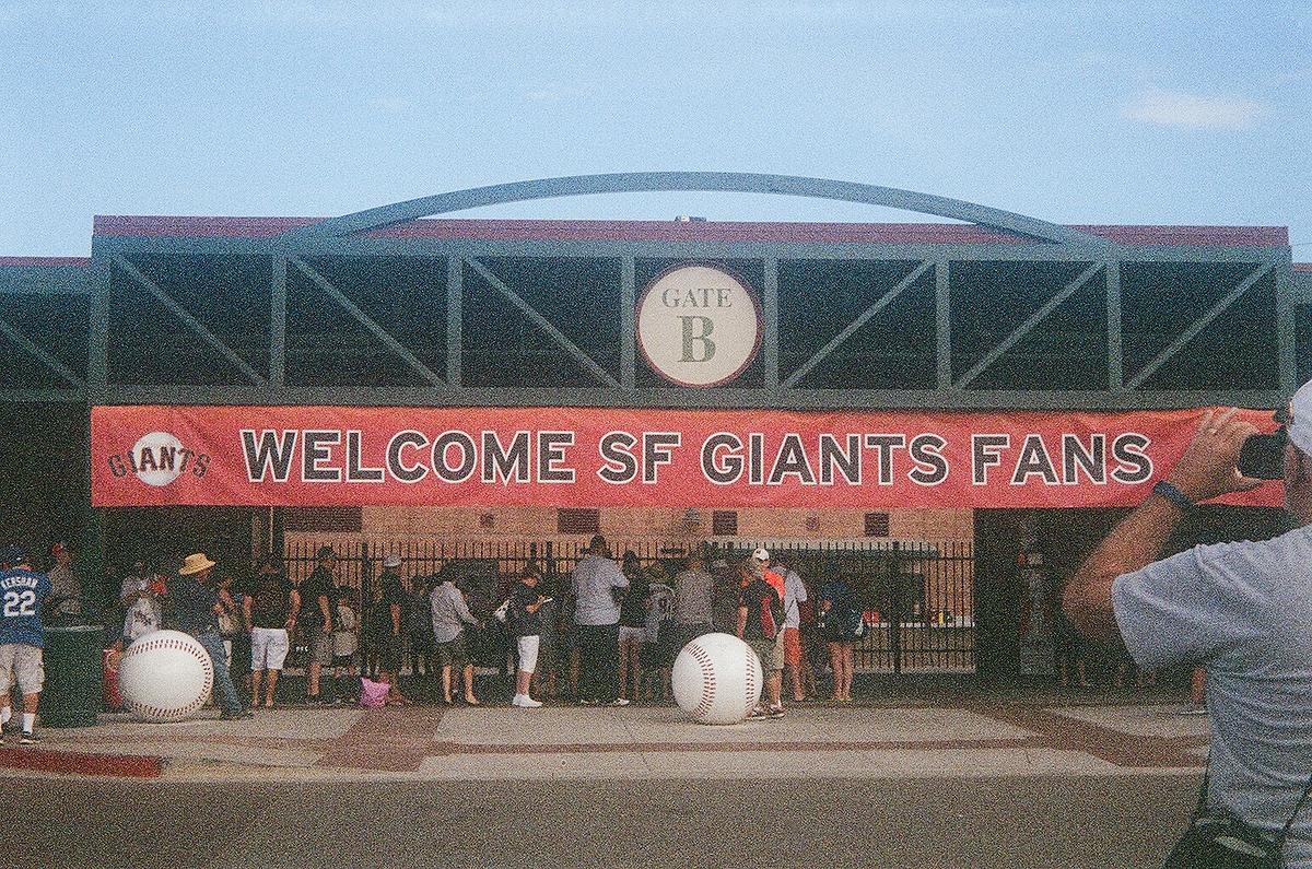 The entrance to Scottsdale Stadium in Arizona.